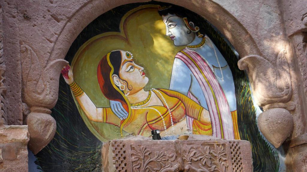 Krishna und Radha - Malerei